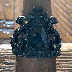 3/$10 ring black crown Celtic